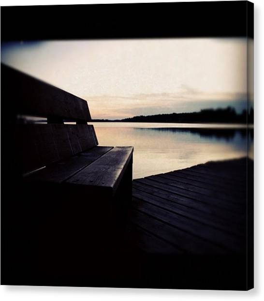 Lake Sunsets Canvas Print - Instagram Photo by Ritchie Garrod
