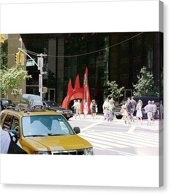 Street Signs Canvas Print - [57th And Madison] Taken With A Nikon by Ben Leser