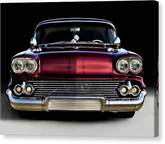 Chevy Canvas Print - '58 Impala Custom by Douglas Pittman