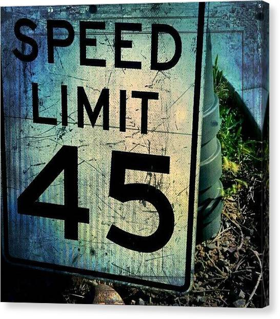 Street Signs Canvas Print - #sports #photography #funny #art by Adam Snow