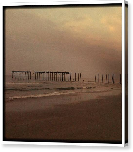 Jerseys Canvas Print - 59th Street Oc Nj by Bill Cannon