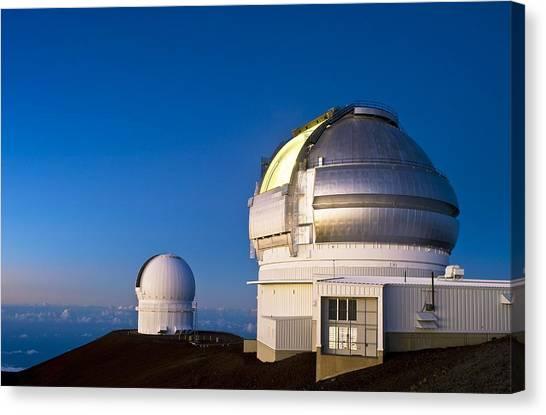Gemini North Telescope, Hawaii Canvas Print by David Nunuk