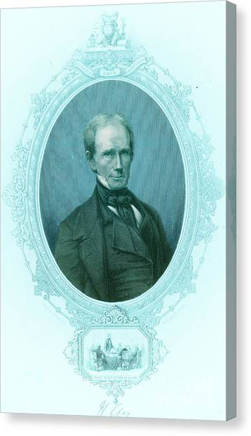 Democratic Politicians Canvas Print - Henry Clay Sr., American Politician by Photo Researchers