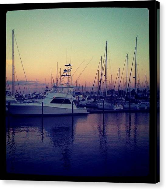 Marinas Canvas Print - #ig #florida #silhouette #igaddict by Matt Turner