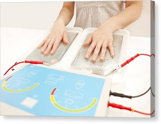 Sweating Canvas Print - Iontophoresis For Excess Sweating by