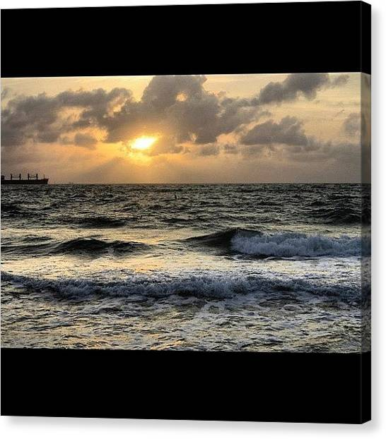 Ocean Sunrises Canvas Print - #photoadayjuly #photoaday #july by Brittany Hoffman