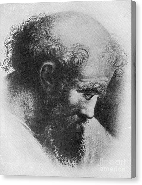 Irrational Canvas Print - Pythagoras, Greek Mathematician by Science Source