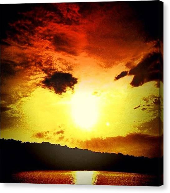Ponds Canvas Print - Sunset by Katie Williams