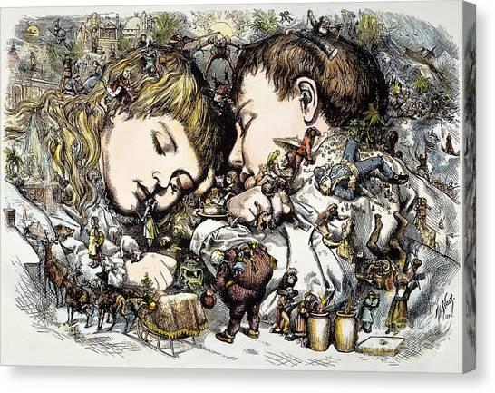 Sleds Canvas Print - Thomas Nast: Christmas by Granger