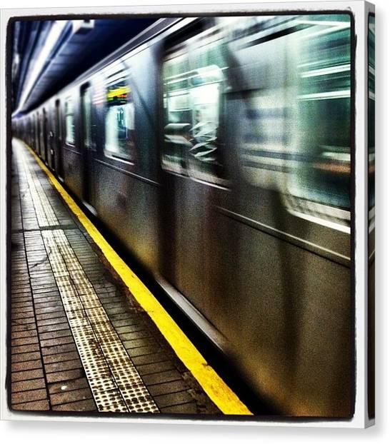 London Tube Canvas Print - 6 Train by Lizzy M