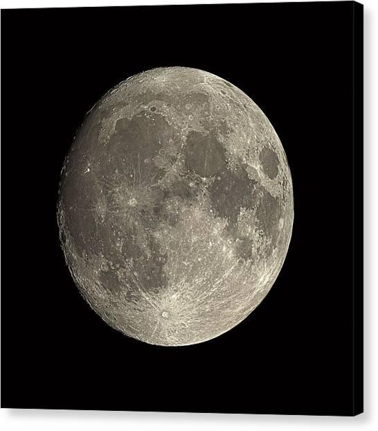 Waxing Gibbous Moon Canvas Print by Eckhard Slawik