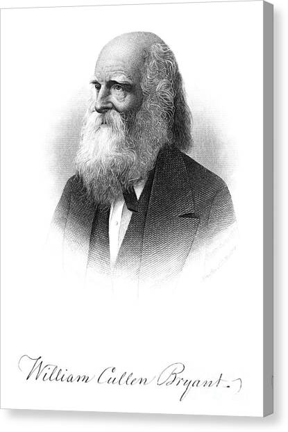 William Cullen Bryant Canvas Print by Granger