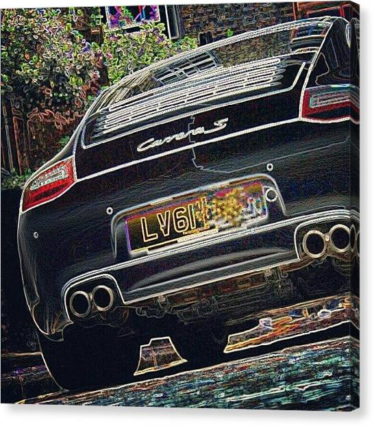 Porsche Canvas Print - 61 Plate - Porsche Carrera S by Ben Armstrong
