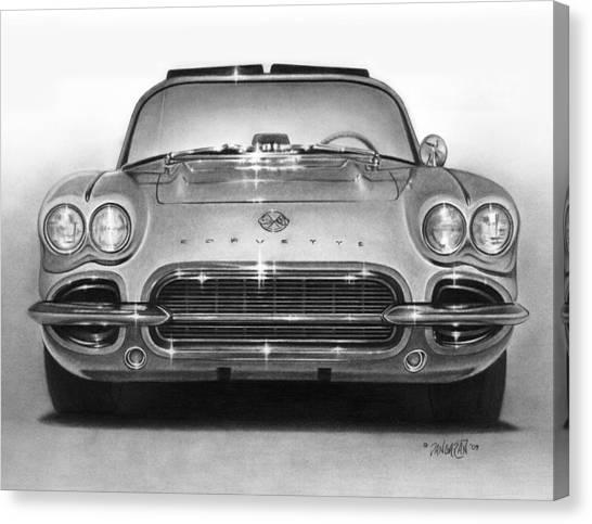 62 Corvette Canvas Print