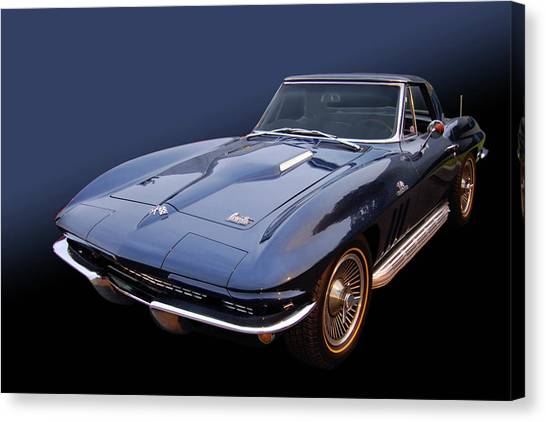 66 Big Block Vette Canvas Print