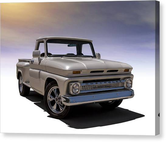 Restoration Canvas Print - '66 Chevy Pickup by Douglas Pittman