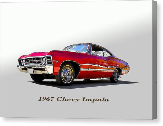 67 Chevy Canvas Print by John Hix