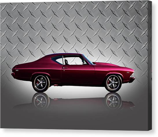 Vintage Chevrolet Canvas Print - '69 Chevelle by Douglas Pittman