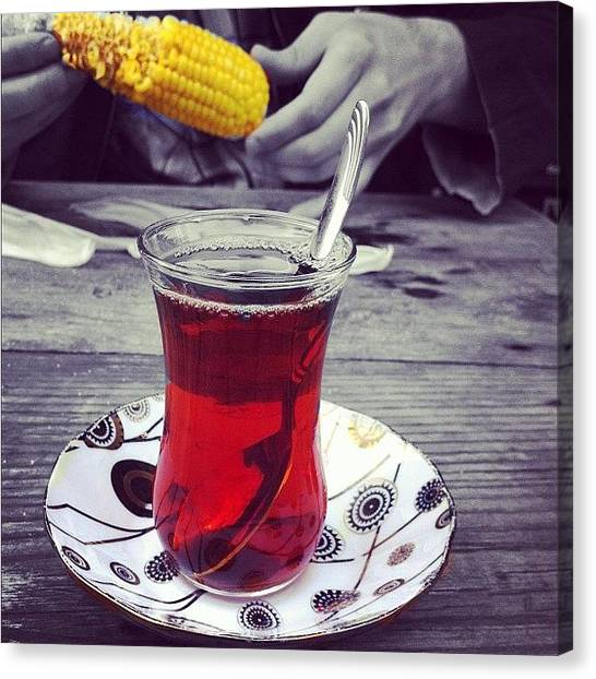 Tea Canvas Print - Instagram Photo by Faruk Esen