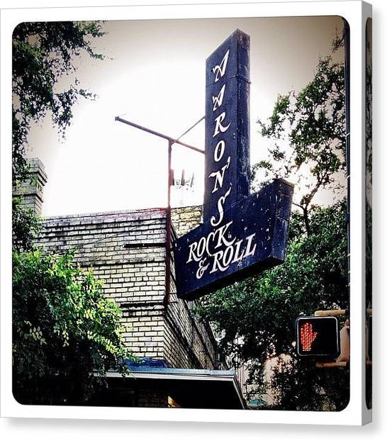 Austin Canvas Print - 6th Street by Natasha Marco