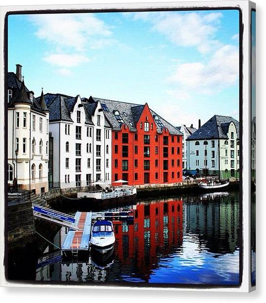Flags Canvas Print - Alesund by Luisa Azzolini