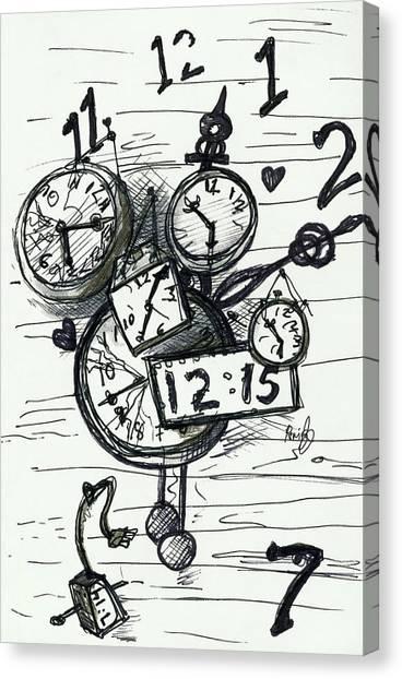 Broken Clocks Canvas Print