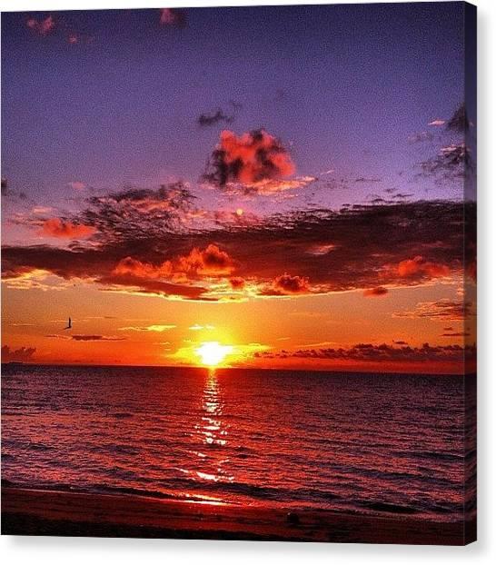 Ocean Sunrises Canvas Print - #instagood #instamood #instaaddict by Alexandr Dobrovan