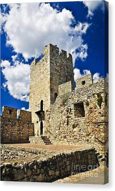 Fortification Canvas Print - Kalemegdan Fortress In Belgrade by Elena Elisseeva
