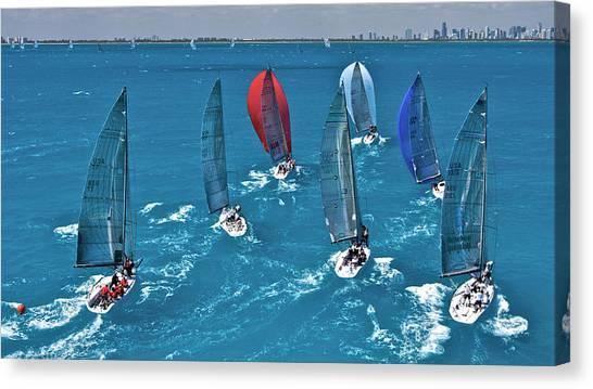 Miami Sail Week Canvas Print