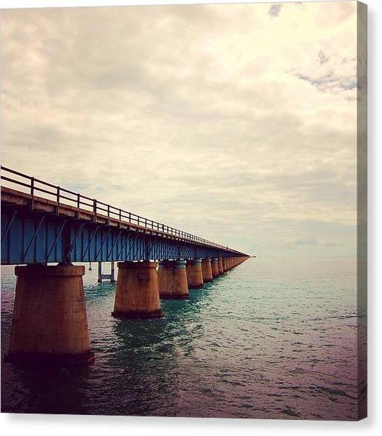 Miami Canvas Print - 7 Miles Bridge, Fl by Joel Lopez