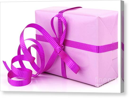 Birthday Gift Canvas Print - Pink Gift by Blink Images