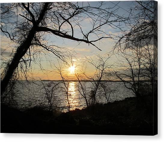 Sunset Chesapeake Bay Canvas Print by Valia Bradshaw