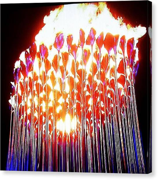 Fireworks Canvas Print - This Photo Is Available In My by Joe Mitchell