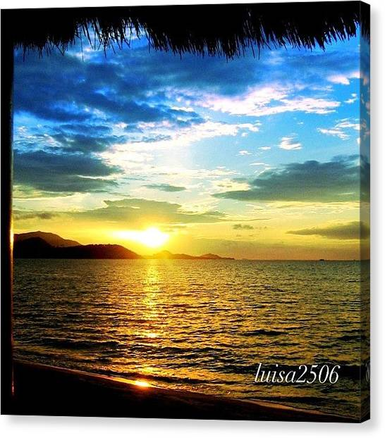 Beach Sunsets Canvas Print - Tropical Sunset by Luisa Azzolini