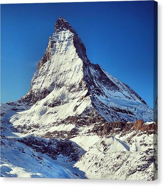 Matterhorn Canvas Print - Instagram Photo by Alexey Buyankin