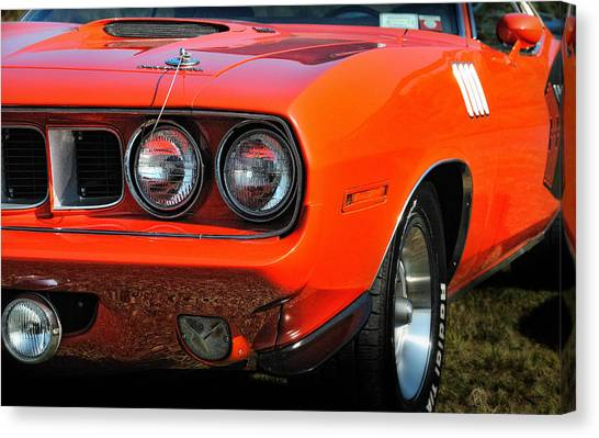 Vitamin C Canvas Print   71 Plymouth Cuda By Expressive Landscapes Fine Art  Photography By Thom