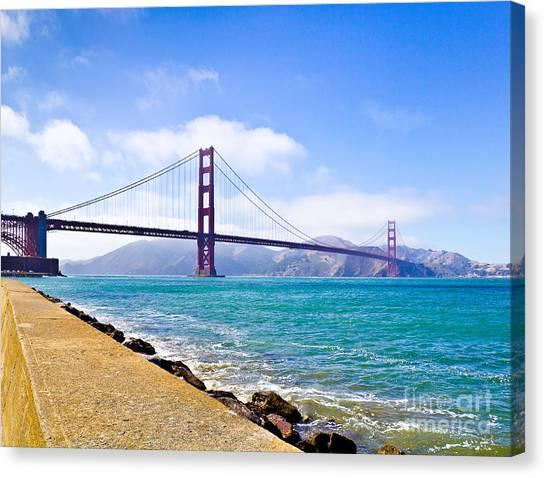 75 Years - Golden Gate - San Francisco Canvas Print