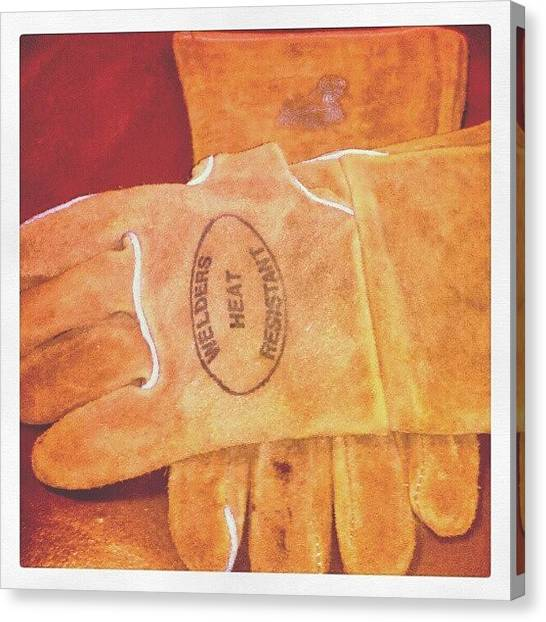 Gloves Canvas Print - Instagram Photo by Greg Toomey