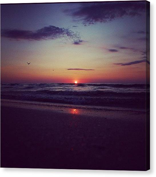 Beach Sunrises Canvas Print - Instagram Photo by Mad Pysyka