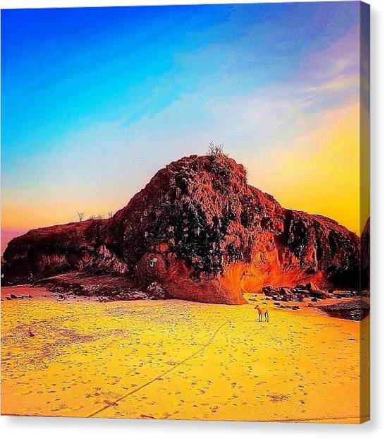 Follow Canvas Print - Instagram Photo by Tommy Tjahjono