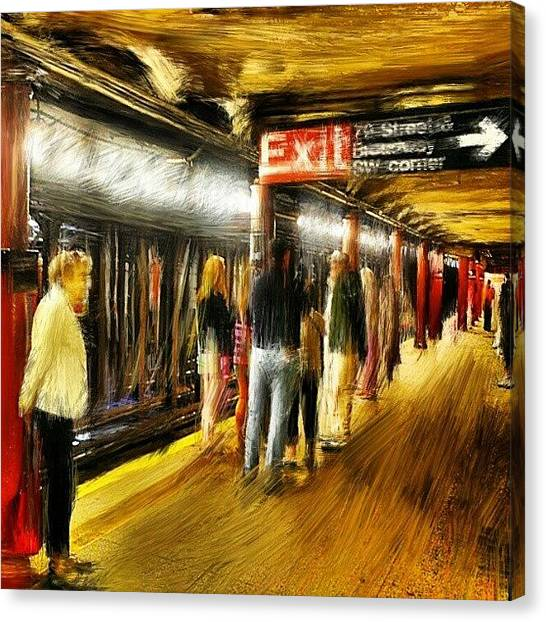 Stroke Canvas Print - #79 #street #subway #nyc #manhattan by Antonio DeFeo