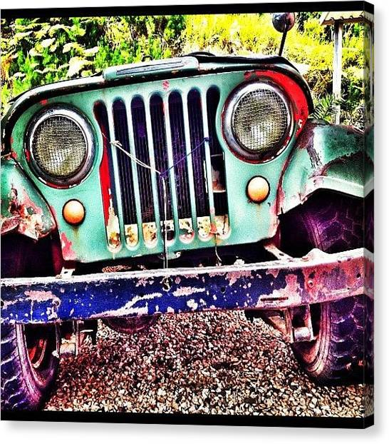 Jeep Canvas Print -  by Ivelaida Rivera