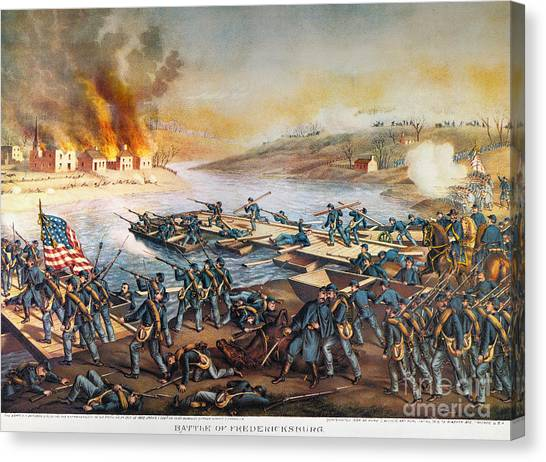 Army Of The Potomac Canvas Print - Battle Of Fredericksburg by Granger