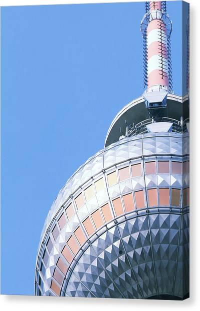 Tv Tower Canvas Print - Berlin Tv Tower by Falko Follert