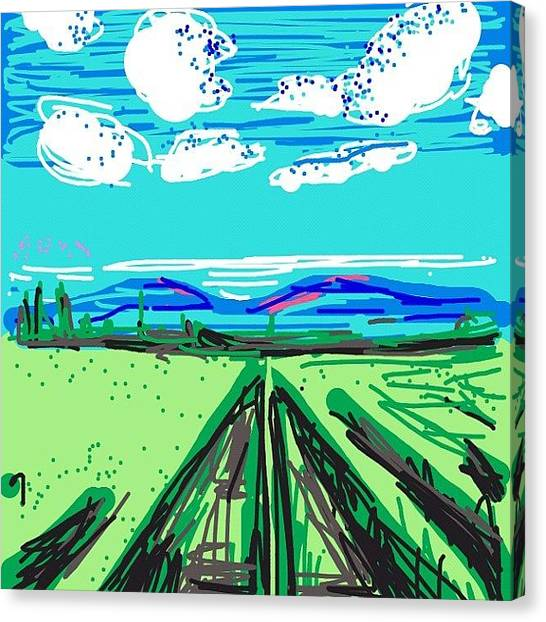 Vineyard Canvas Print - #drawsomething #drawsomethingepic by Kidface Anbessa-Ebanks