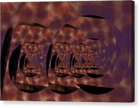 Twirling Shine Canvas Print by Mihaela Stancu