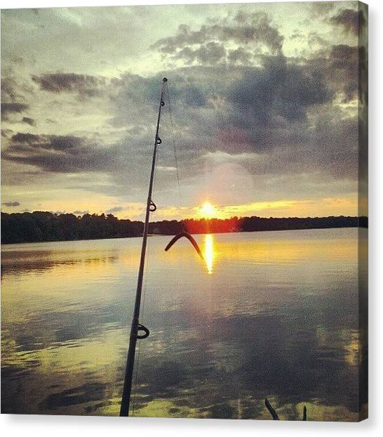 Bass Fishing Canvas Print - Instagram Photo by Greg Toomey