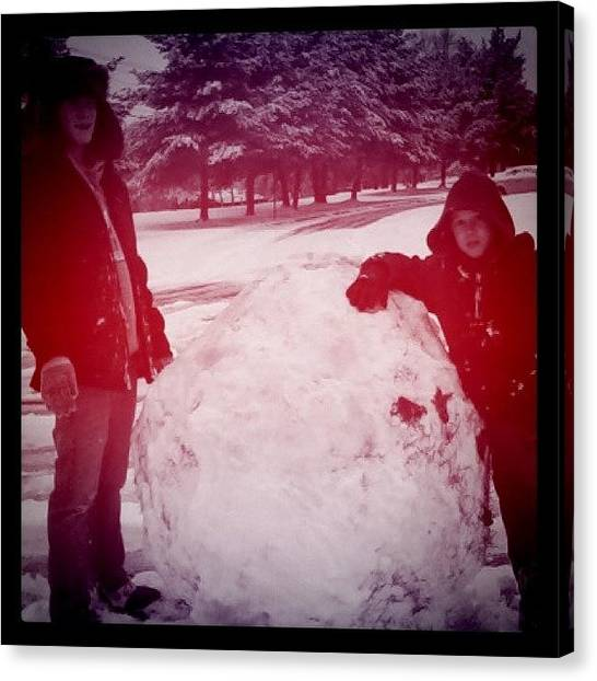 Snowball Canvas Print - Instagram Photo by S Smithee