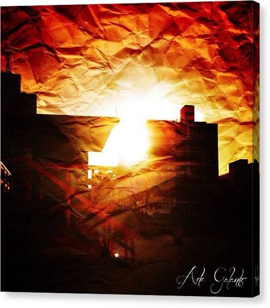 Beach Sunsets Canvas Print - Instagram Photo by Adela Galante
