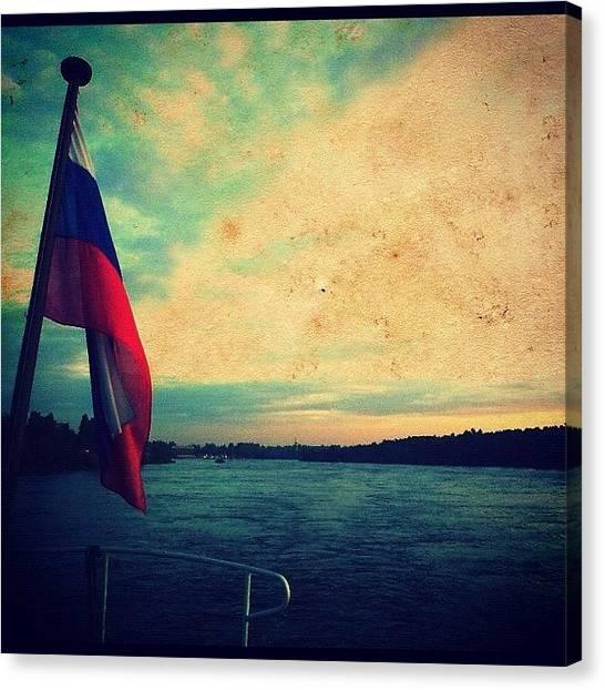 Russian Canvas Print - Ладожское озеро #porusski by Marianna Garmash